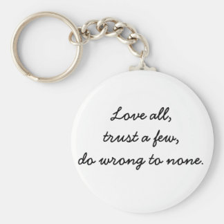 Inspirational key chains unique gift idea Love all