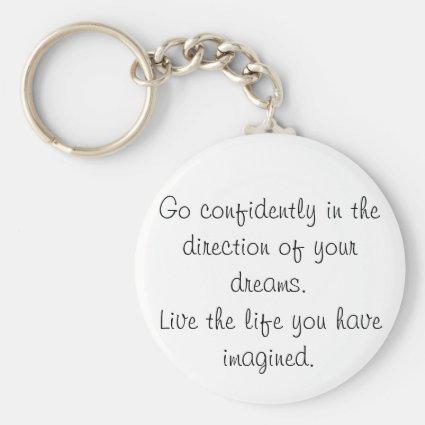 Inspirational keychains go confidently gift idea