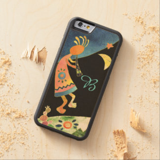 Inspirational Kokopelli Monogram Carved® Maple iPhone 6 Bumper Case