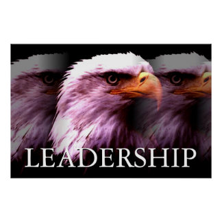 Inspirational Leadership Eagle Poster
