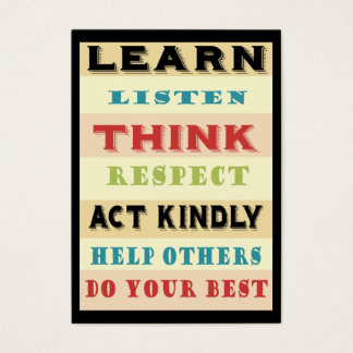 Inspirational Learn Classroom Message Card