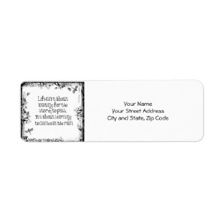 Inspirational Learning to dance in the Rain Quote Label
