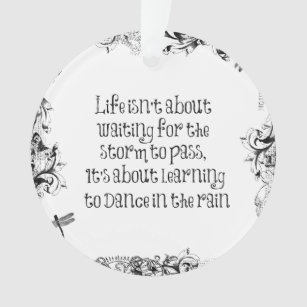 Rain Quote Ornaments Keepsake Ornaments Zazzle