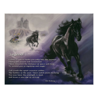Inspirational Legend by Kim McElroy Poster