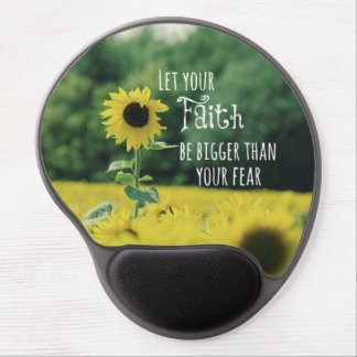 Inspirational: Let Your Faith Be Bigger Than Fear Gel Mousepad