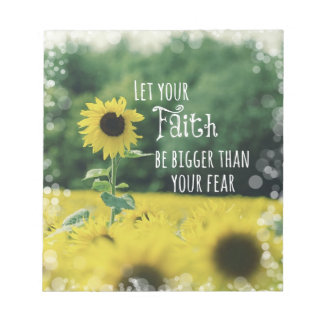 Inspirational: Let Your Faith Be Bigger Than Fear Notepad