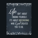 """Inspirational Life and God Quote Canvas Print<br><div class=""""desc"""">Inspirational and motivational life and God quote canvas Prints with vintage chalkboard background and white font,  with bokeh sparkle edges (which can be removed for quote only canvas).</div>"""