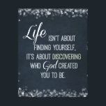 "Inspirational Life and God Quote Canvas Print<br><div class=""desc"">Inspirational and motivational life and God quote canvas Prints with vintage chalkboard background and white font,  with bokeh sparkle edges (which can be removed for quote only canvas).</div>"
