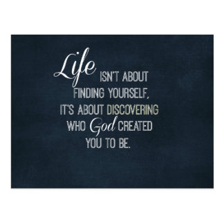 Inspirational Life and God Quote Postcard