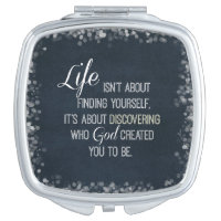 Inspirational Life and God Quote Vanity Mirror