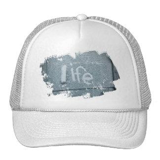 Inspirational life boho rustic blue trucker hat