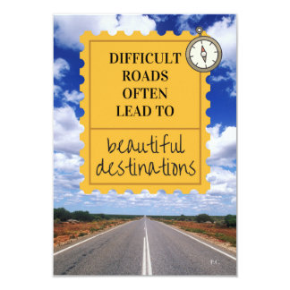 Inspirational Life Motto Invite
