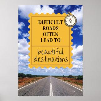 Inspirational Life Motto Poster