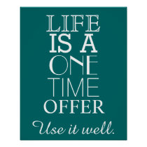 Inspirational LIFE Quote Poster - Personalize