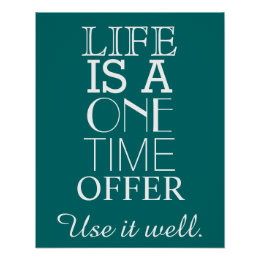 Charmant Inspirational LIFE Quote Poster   Personalize ...