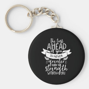 Stay Strong Keychain hand stamped inspiration Aluminum Bar hope keychain encouragement keychain get well keychain