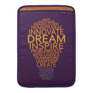 "Inspirational Light Bulb custom 13"" MacBook sleeve"