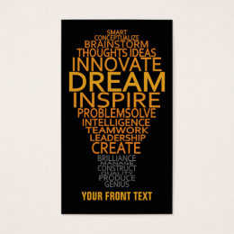 Motivational business cards templates zazzle inspirational light bulb custom business cards colourmoves