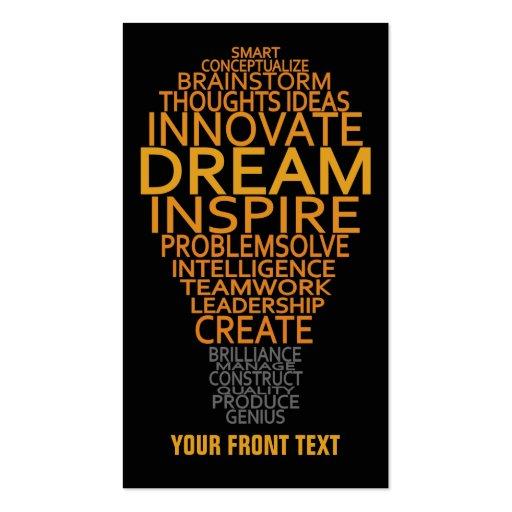 Inspirational Light Bulb custom business cards