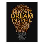 Inspirational Light Bulb custom flyers