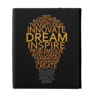 Inspirational Light Bulb custom iPad folio iPad Cases