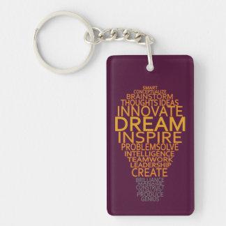 Inspirational Light Bulb custom key chain