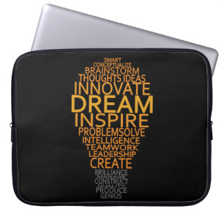 Inspirational Light Bulb custom laptop sleeve
