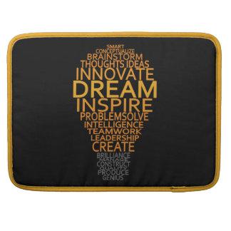 Inspirational Light Bulb custom MacBook sleeve