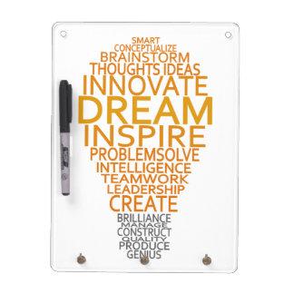 Inspirational Light Bulb custom message board Dry Erase White Board