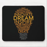 "Inspirational Light Bulb custom mousepad<br><div class=""desc"">Using the &quot;customize it&quot; function,  you can change (edit) the background color of this item and add your own text if you wish. See my store for more items with this design.</div>"