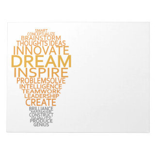 Inspirational Light Bulb custom notepad