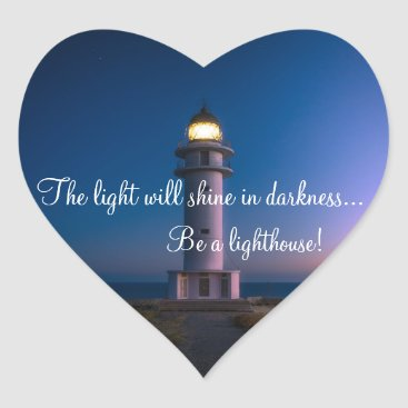 Inspirational light House Heart Heart Sticker