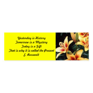 Inspirational Lily Bookmark Business Cards