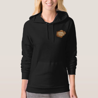 Inspirational live life rustic black and gold hoodie