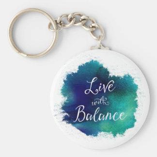 Inspirational Live with Balance Keychain
