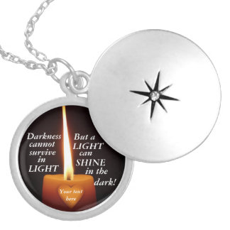 Inspirational Locket - Darkness and Light