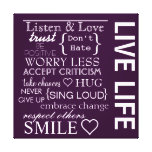 Inspirational Love Life Wrapped Canvas Canvas Print