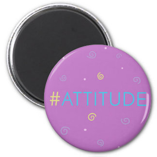 Inspirational magnet - pink Hashtag Mag #attitude!