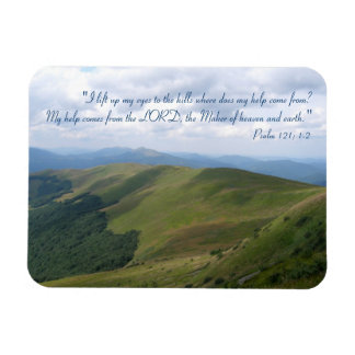 Inspirational Magnet Psalm 121; 1-2