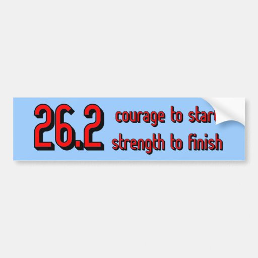 Inspirational marathon bumper stickers