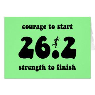 Inspirational marathon greeting cards