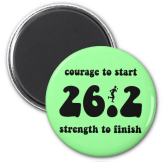 Inspirational marathon magnet