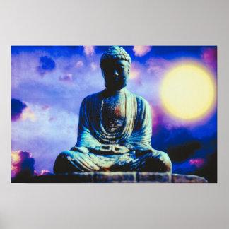 Inspirational Meditating Buddha Print