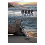 Inspirational Message in Bottle Card