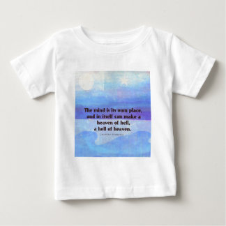 Inspirational Milton quote Paradise Lost Baby T-Shirt