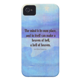 Inspirational Milton quote Paradise Lost iPhone 4 Case-Mate Case