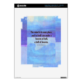 Inspirational Milton quote Paradise Lost Skin For iPad 3
