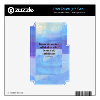 Inspirational Milton quote Paradise Lost Skins For iPod Touch 4G