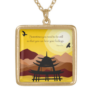 Inspirational Mindful Quote Necklace