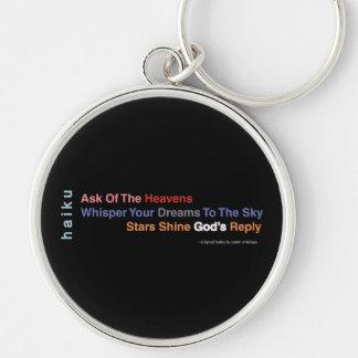 Inspirational Modern Haiku Premium Keychain Large